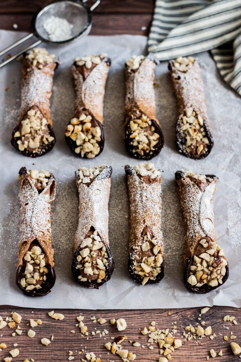 Chocolate Hazelnut Cannoli