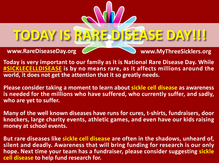 Today is Rare Disease Day!!! – MTS Sickle Cell Foundation, Inc