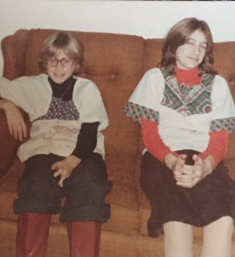Me and my sister, on our grandparent's couch. 1977ish