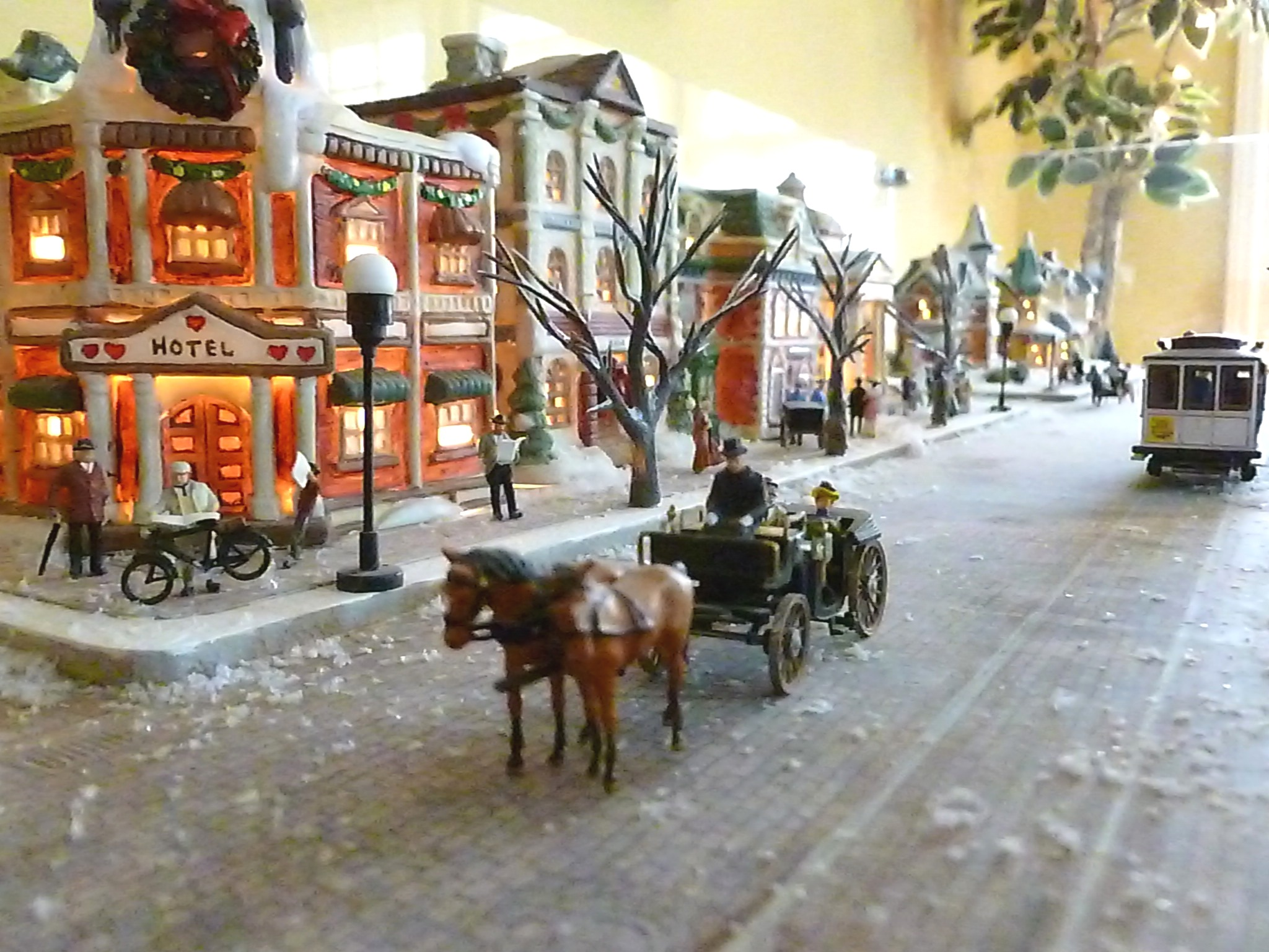 Vintage Christmas Village Oak Valley A Miniature Town
