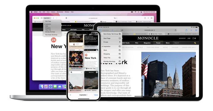 macOS Monterey will have the old Safari tab design