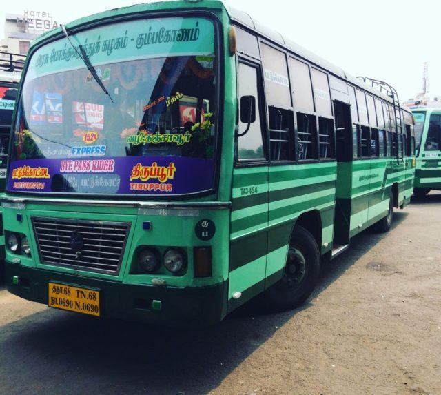Tnstc bus from Pattukottai to Tiruppur
