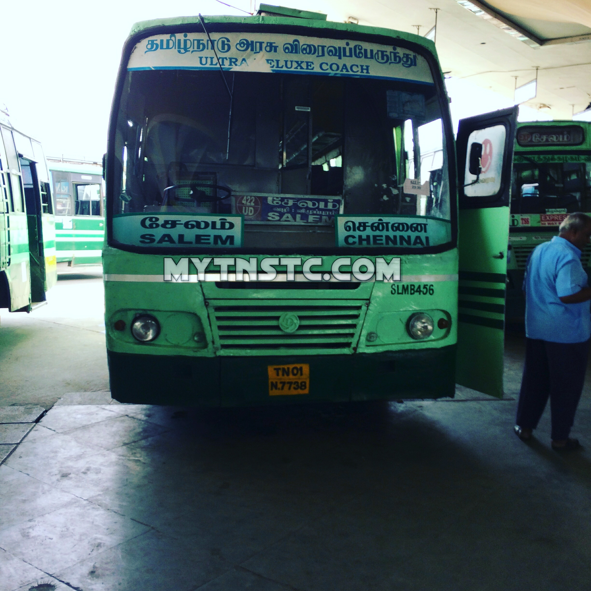 TNSTC SETC Chennai to Salem TN 01 N7738