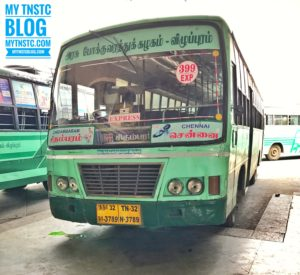 Chennai to Chidambaram TNSTC 399 Express Bus ServiceTN32 N3789