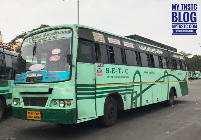 SETC Kulasekaram to Chennai Non AC Bus TN 01 AN 0084