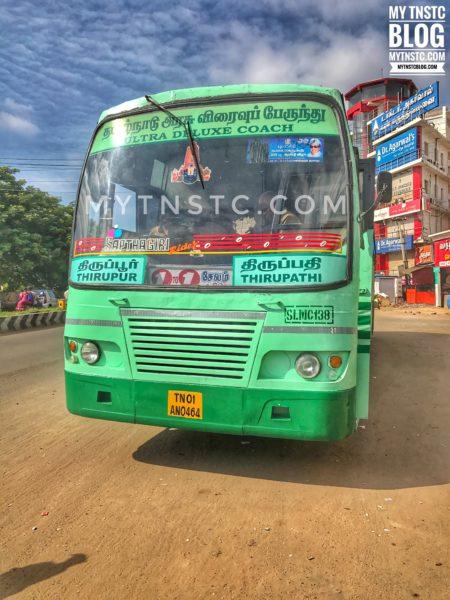 Tirupur - Tirupathi SETC Bus Timings