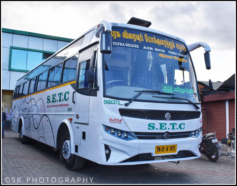 Ooty Chennai CMBT SETC Bus Timings via Villupuram