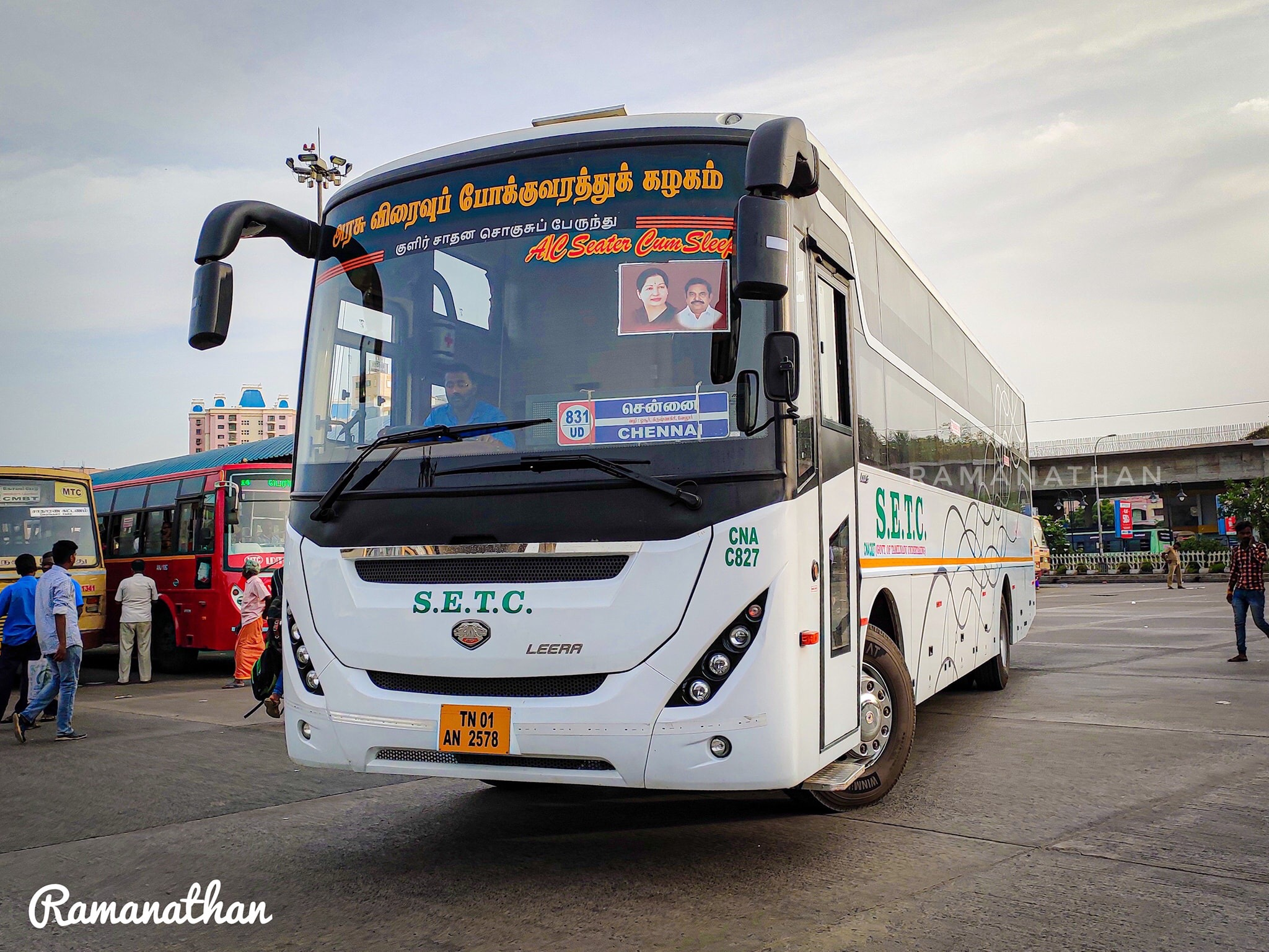 SETC Bus Timings From Bangalore to Coimbatore