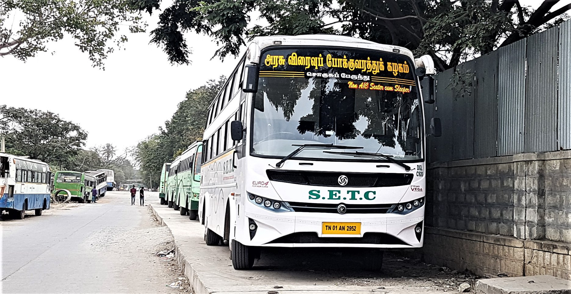 Vellore To Kanyakumari SETC Non AC Seater Cum Sleeper Bus Service Timings