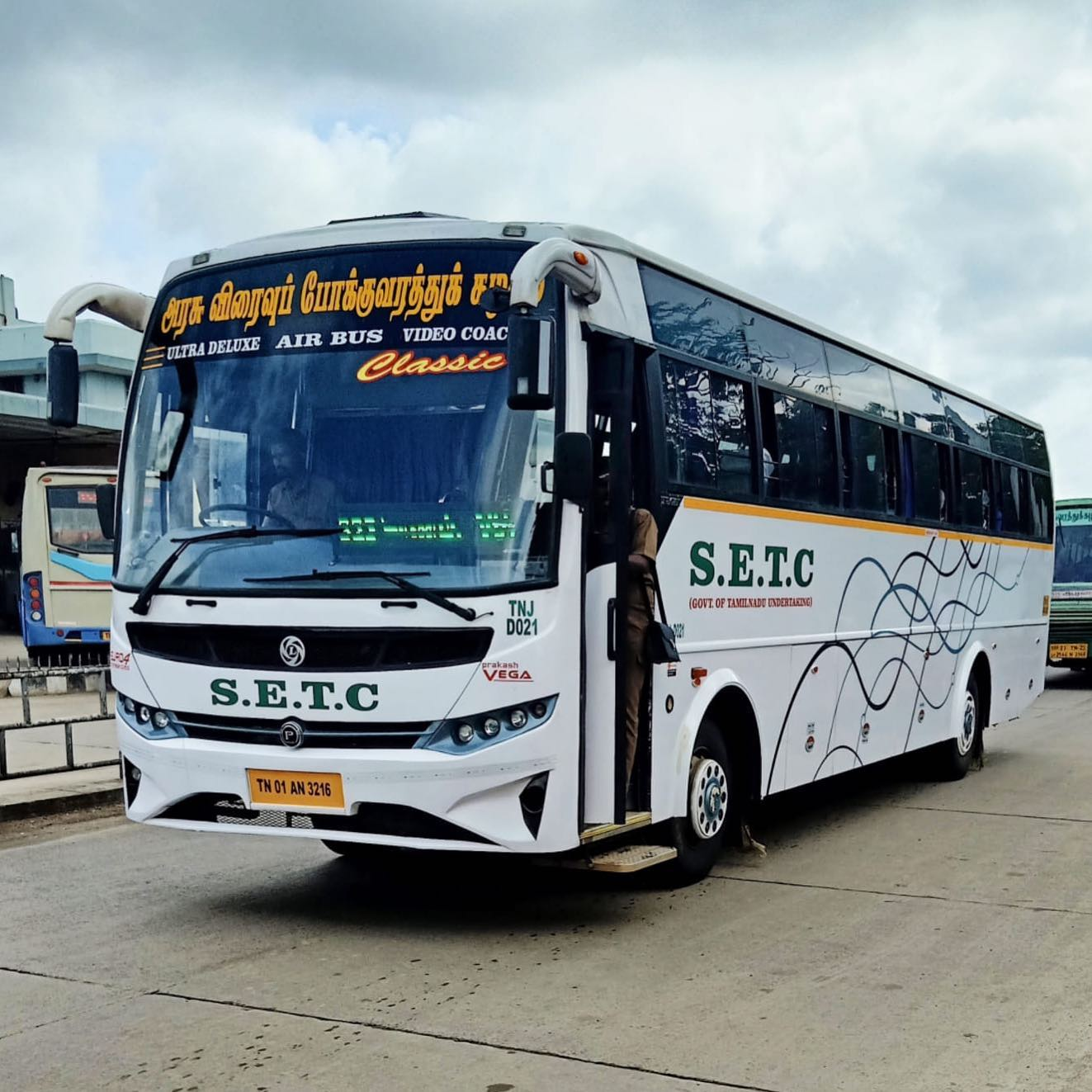 Coimbatore To Chennai SETC Non AC Ultra Deluxe Classic Bus Service Timings with Bio Toilet