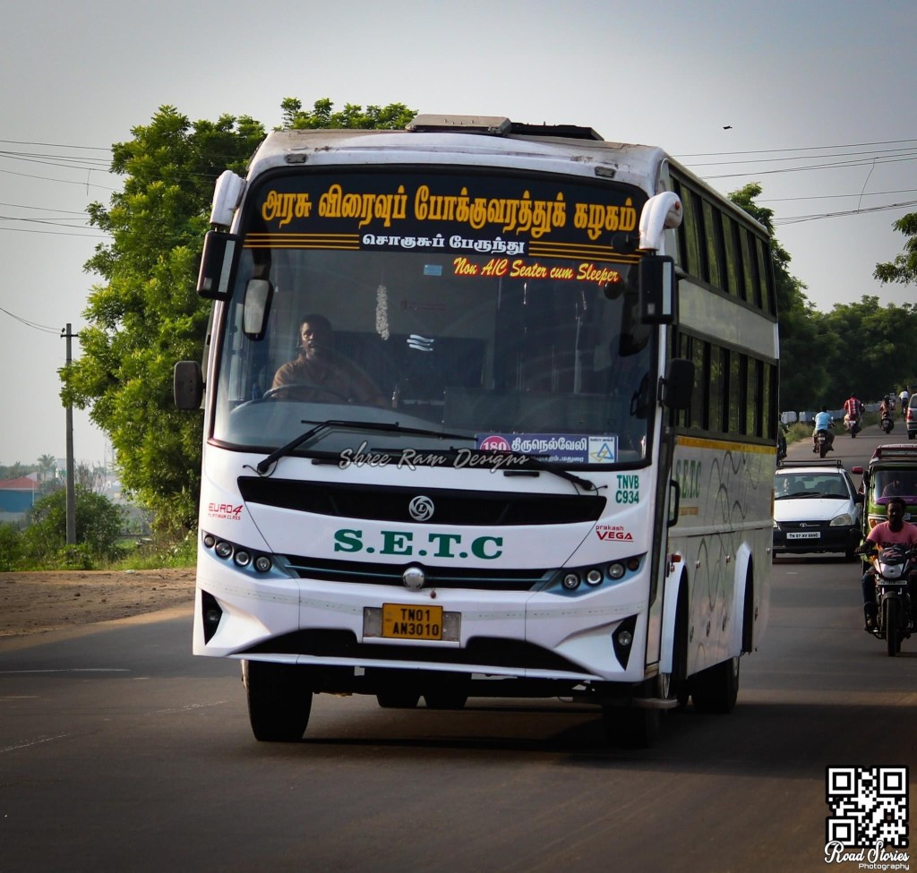 SETC Non AC Seater Cum Sleeper Bus Service Timings From Coimbatore to Chennai