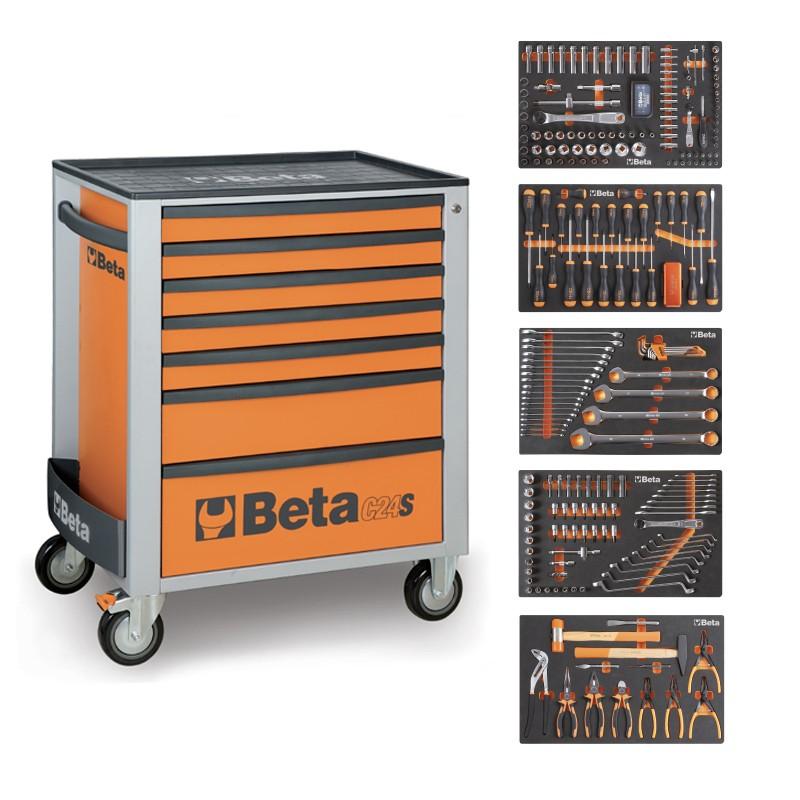 servante mobile d atelier 7 tiroirs 295 outils 2400s o7 e l beta