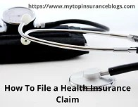 how to file a health insurance claim
