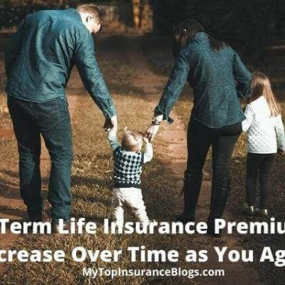 Do term life insurance premiums increase over time as you age