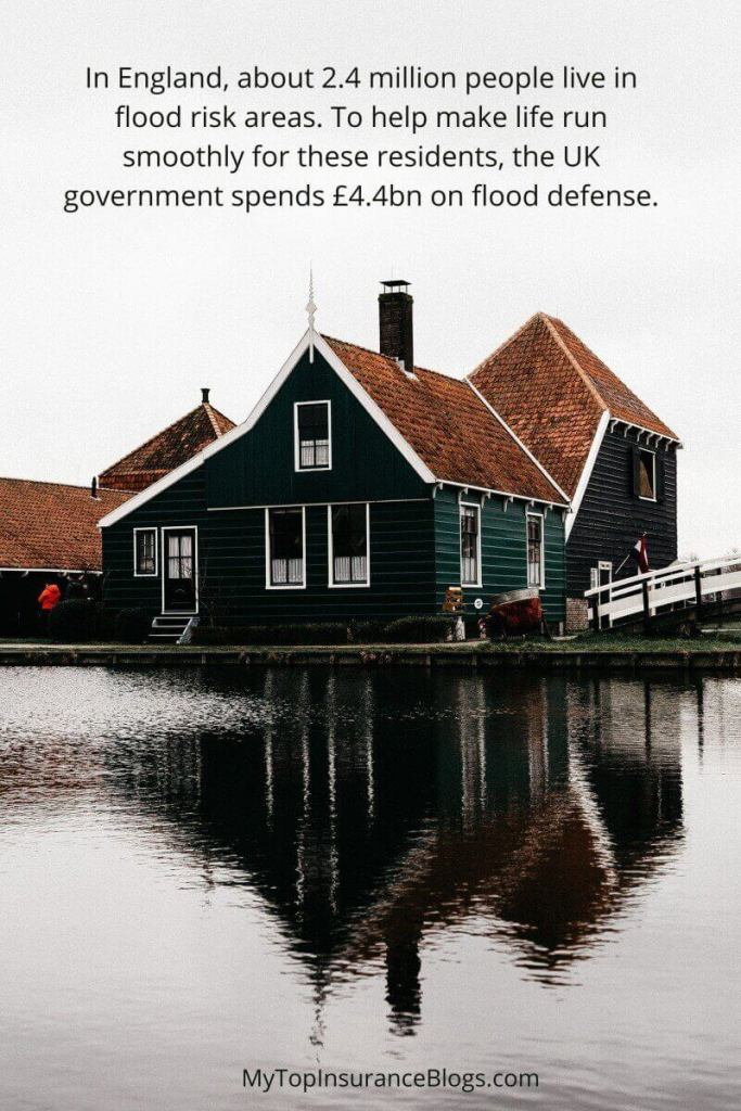 How much flood cost the United States and the UK government