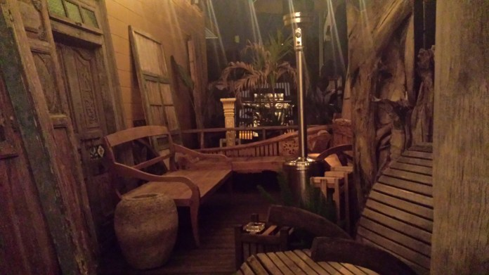 The back patio at Imperial