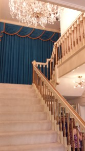 Staircase leading up to the private area of the home, which you don't get to visit