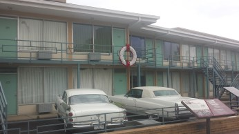 The infamous balconey where Dr. King was killed
