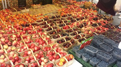 rows and row of colourful fruit