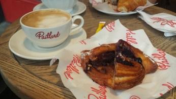 Divine Cafe au lait and danish at Paillard