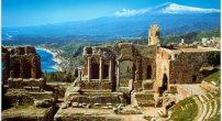 vue sur l 'etna depuis taormina