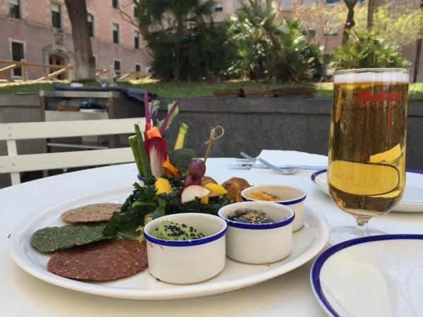 Gezond lunchen Barcelona flax en kale