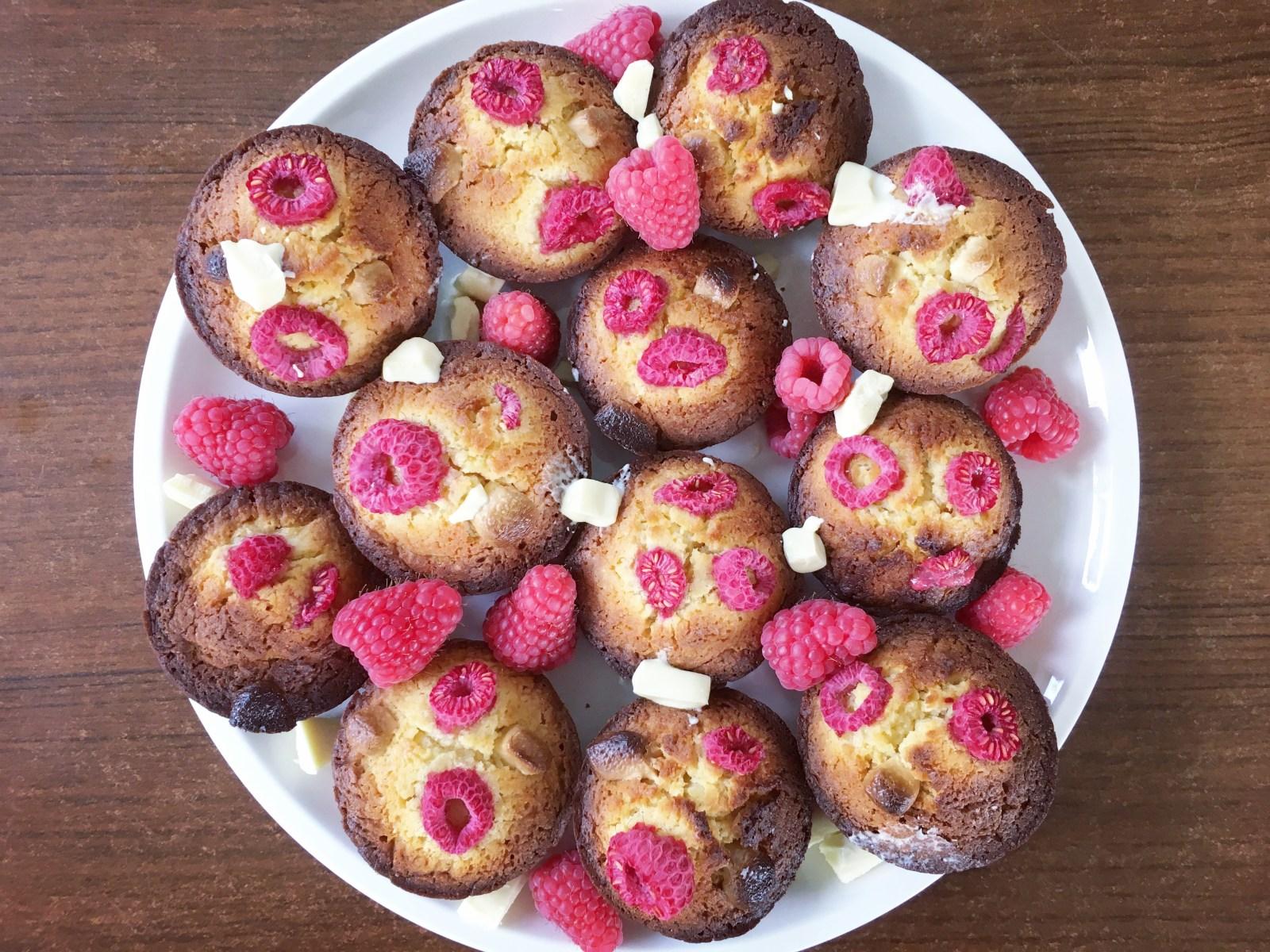 Witte chocolade muffins