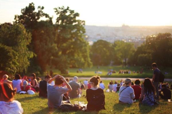Bbqen in het park