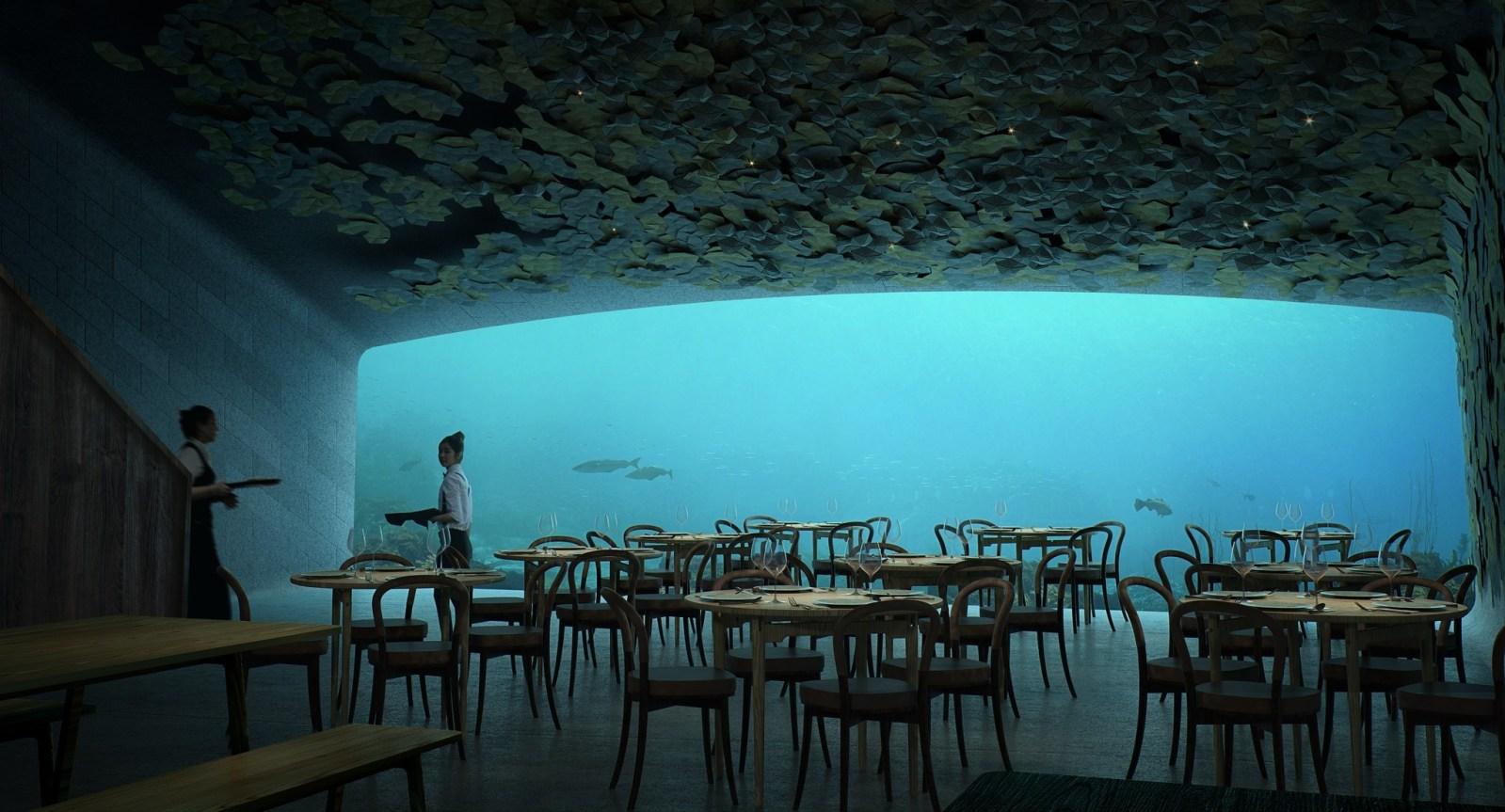 Europa's eerste onderwaterrestaurant opent in Noorwegen