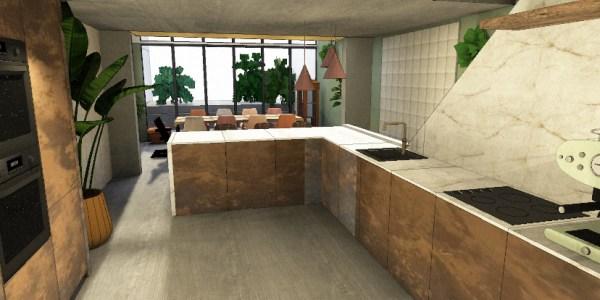 Rebeccas bouwval de keuken