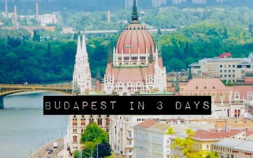 3 days Itinerary Budapest