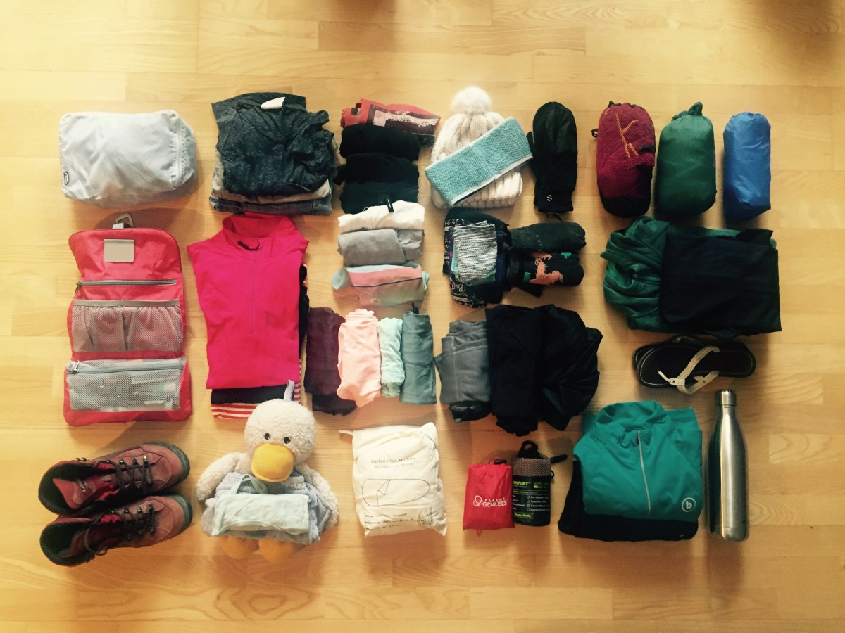 Packing list for 6 months South and Central America