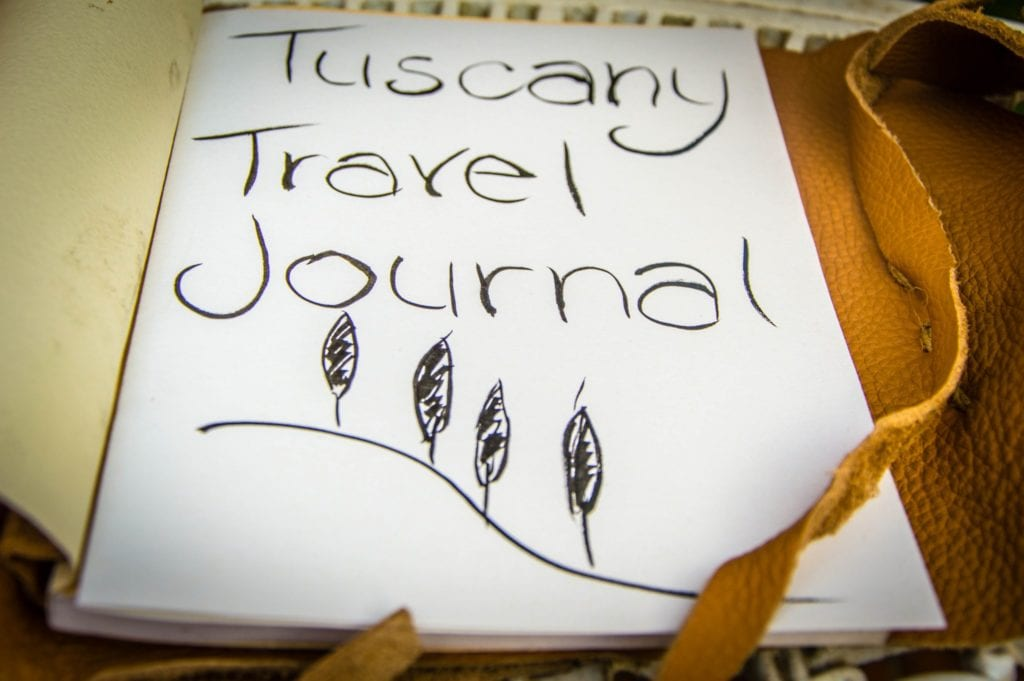 Tuscany Travel Journal Header