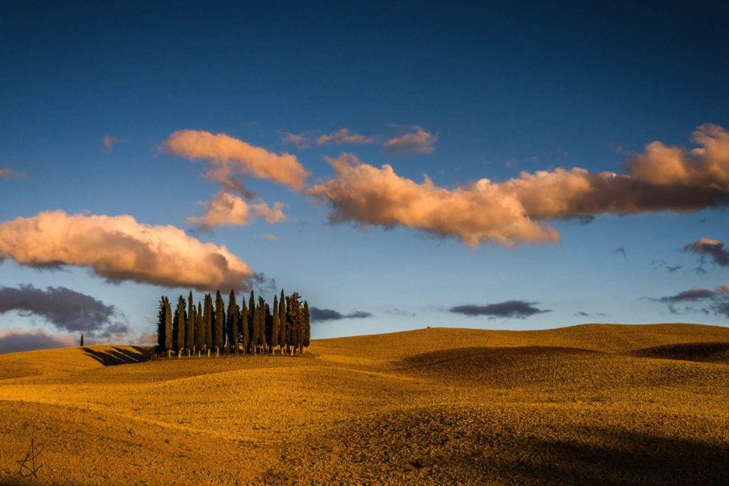ValdOrcia field Tuscany