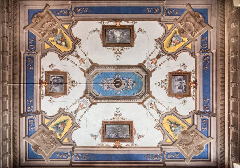 frescoes on the roof