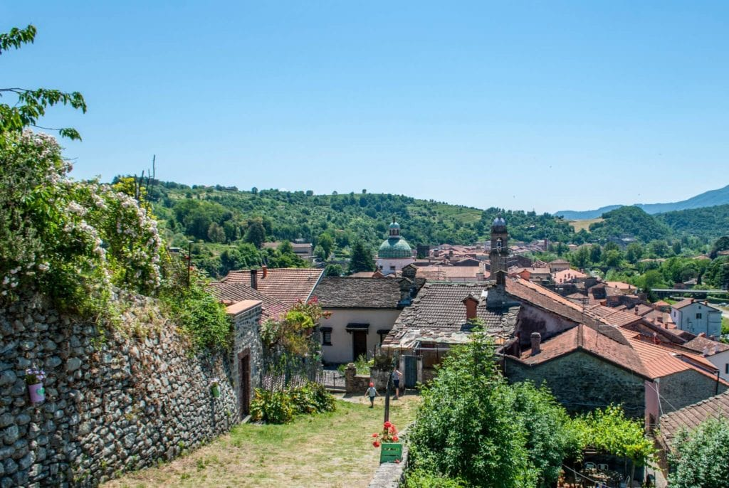 Pontremoli view from the Castle lunigiana tuscany villages