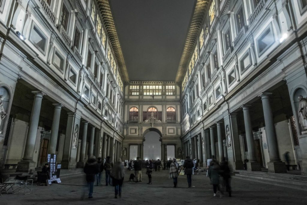 Uffizi Gallery in Florence weather in Tuscany