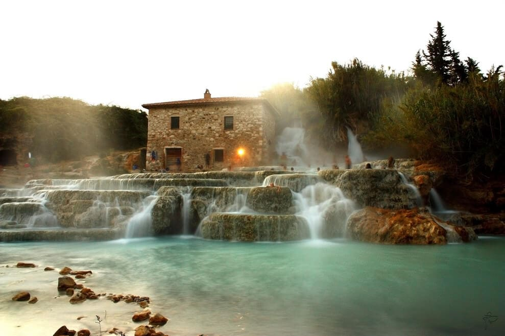 Saturnia hot Springs Tuscany