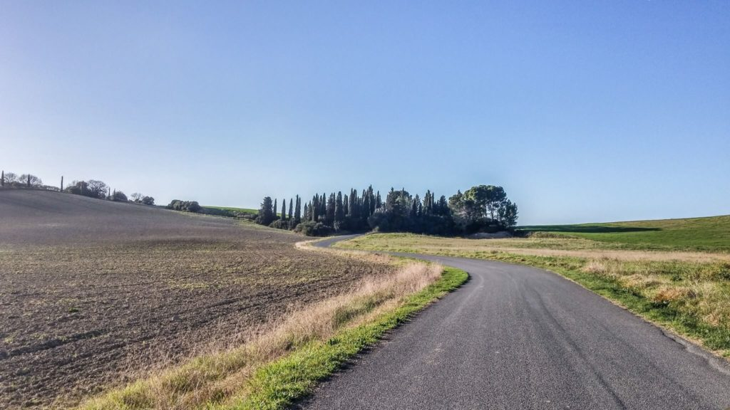 Streets of Tuscany countryside routes