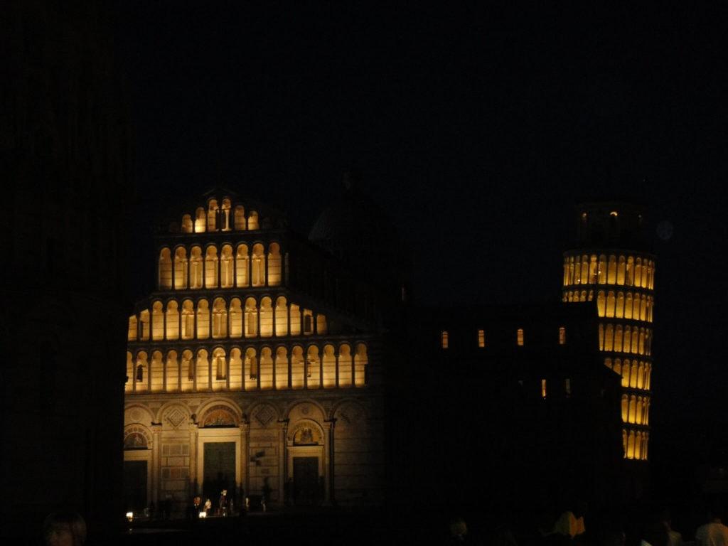 The square of Miracles Luminara of San Ranieri in Pisa