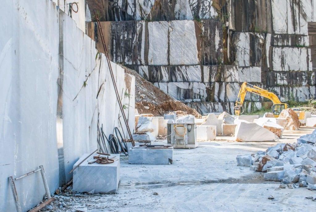 working marble quarries of Carrara
