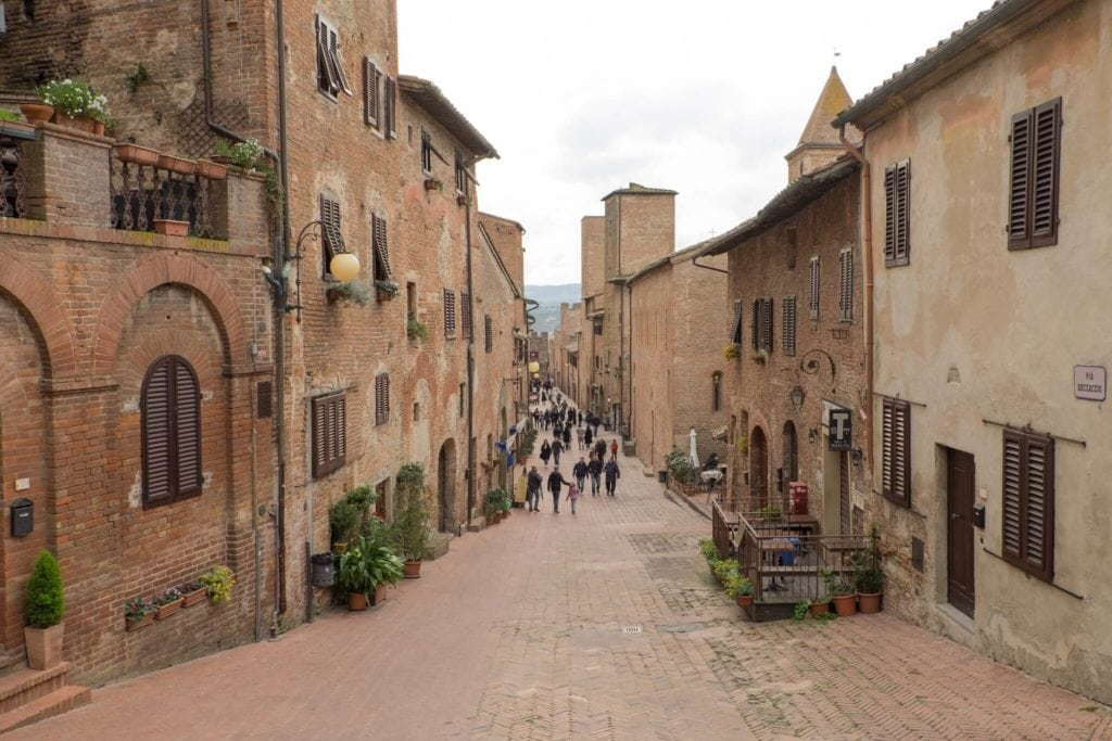 Certaldo The Main Via Boccaccio