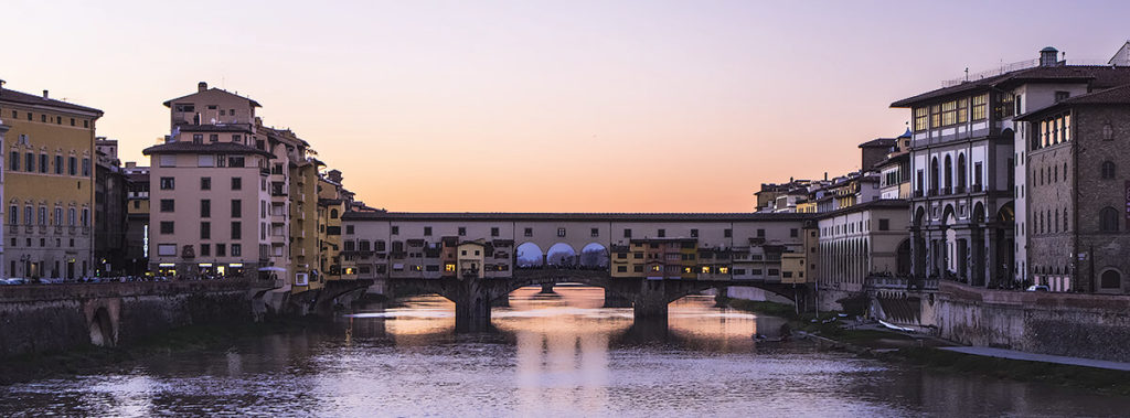 Sunset over Ponte Vecchio Florence