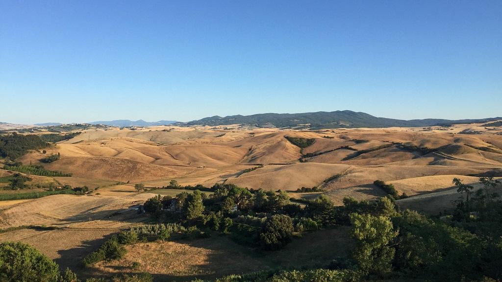 Countryside of Valdera in Tuscany
