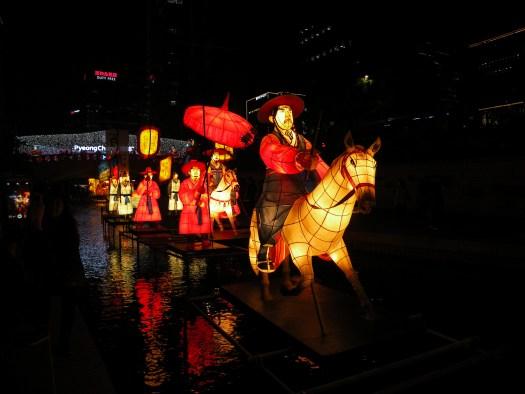 Riders on horses on the lantern festival 2016