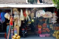 Colourful bamboo wares...