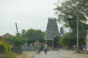 Sleepy village, huge temple...