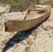 Hand-hewn wooden boat, still in use nowadays...