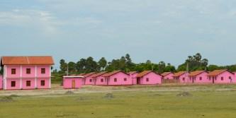 Very pink post war re-settlement village...