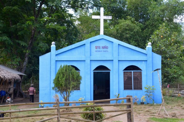 A remote church in a jungle settlement, the windows were the only windows with glass for many a mile.........